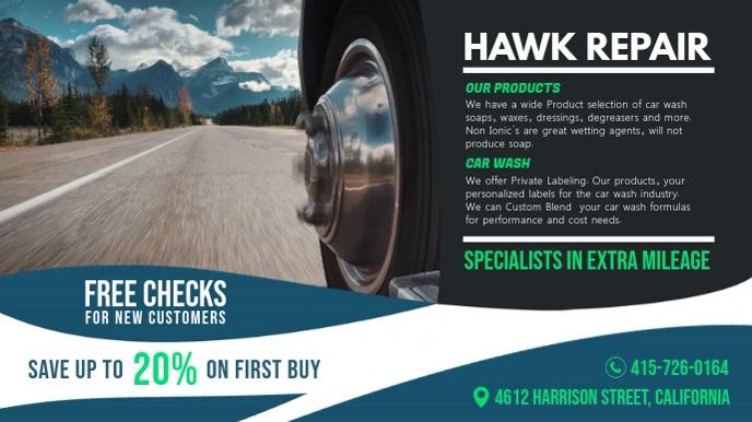 Car Repair Service Digital Advertisement