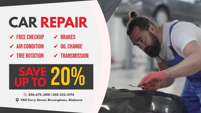 Car Repair Service Digital Display Ad template