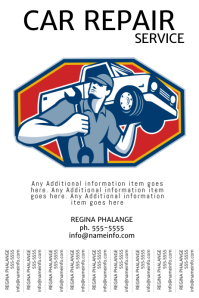 Car Repair Service Tear off tabs poster template free