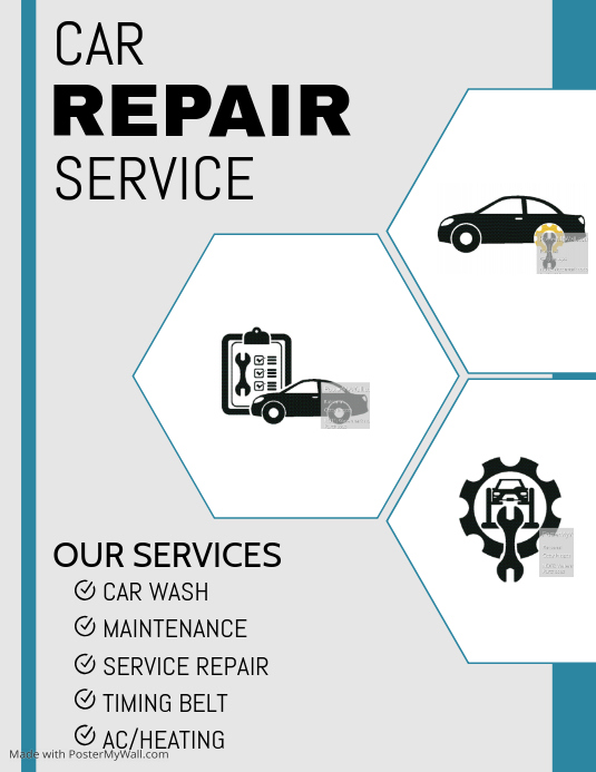 Car repair template