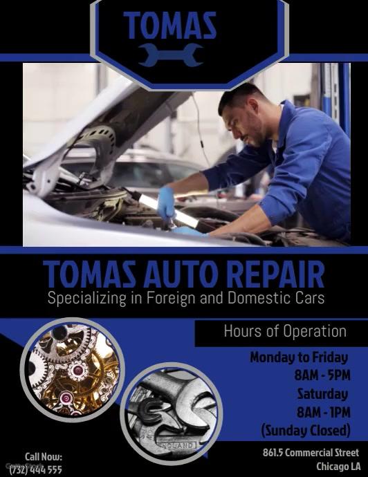 Car Repair Template Løbeseddel (US Letter)