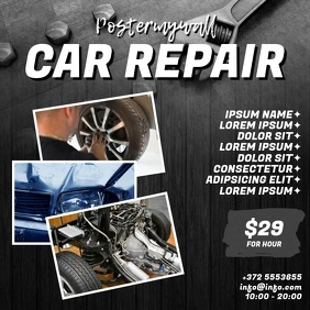 Car Repair Video Ad template Square (1:1)