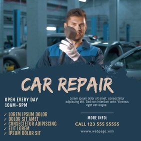 Car repair video service template