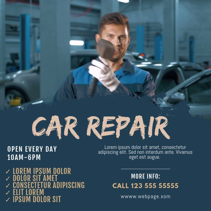Car repair video service template