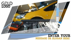 Car repair video template for facebook cover