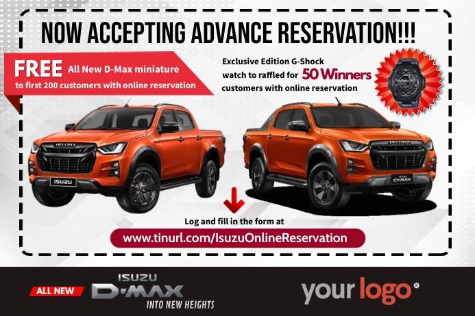 Car Reservation Rótulo template