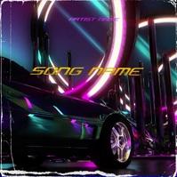 Car Retrowave Mixtape Cover Template Обложка альбома