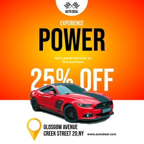 Car Sale Discount Flyer Instagram Post template