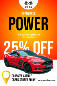 Car Sale Discount Flyer Poster template