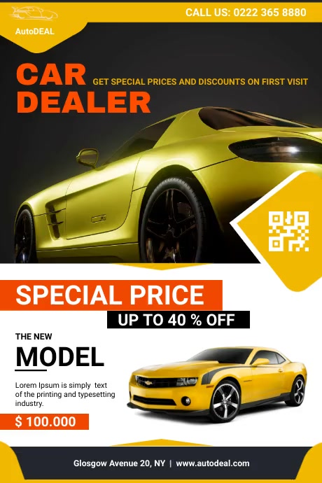 Car Sale Flyer Poster template