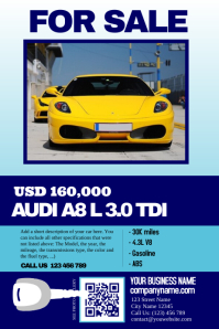 Car sale flyer - Clean, Big text, Big image - Great for featuring a single auto