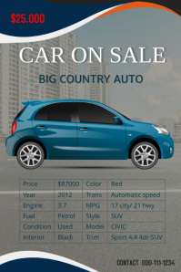Car Sale Flyer Template  Car For Sale Flyer
