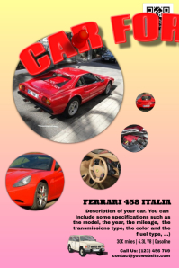 Car for sale - Fully editable poster