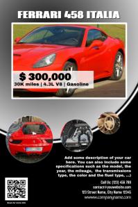 Awesome Car Sale Flyer Template   Black Idea