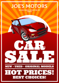 CAR SALE POSTER A4 template