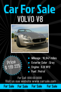 car sale poster template
