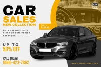 Car Sale Promotion Banner Design template