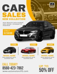 Car Sale Promotion Flyer Design template