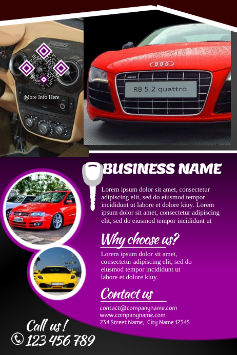 car sales brochures template postermywall