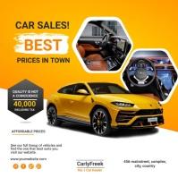 car sales Post Instagram template