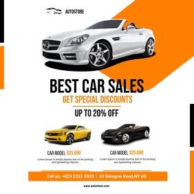 Car Sales Flyer Instagram Post template