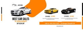 Car Sales Flyer Facebook Cover Photo template