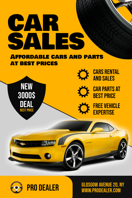Car Sales Flyer Template 海报