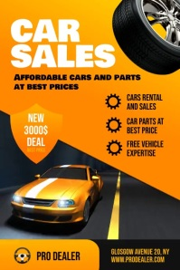 Car Sales Flyer Template Poster