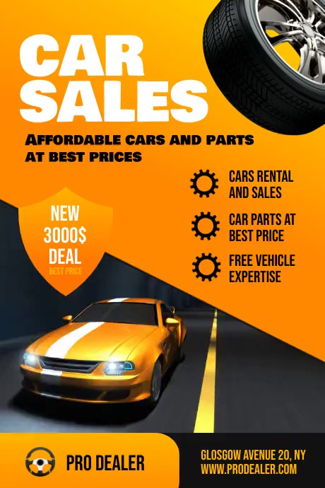 Car Sales Flyer Template Iphosta