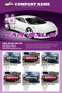 Car sales poster - Modern template