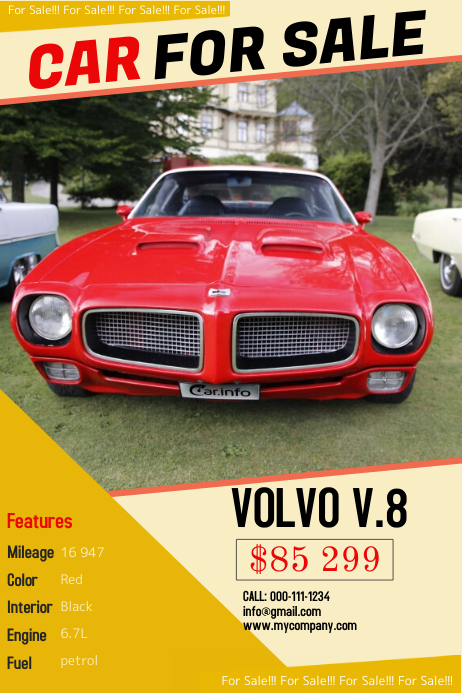 Car Sales Templates Plakat