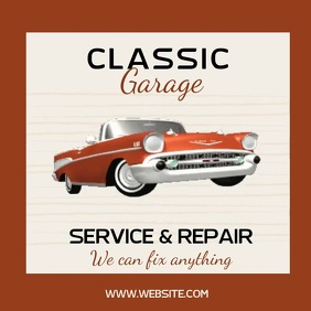 car service and repair SOCIAL MEDIA AD Square (1:1) template
