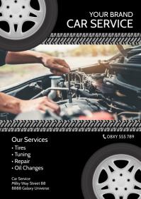 Car Service Flyer Offer Garage Repair Ad A4 template