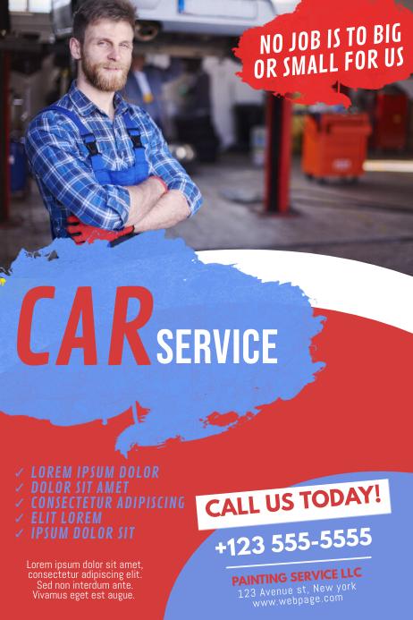Car Service Flyer Template