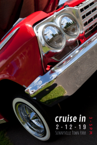 car show cruise in flyer poster template