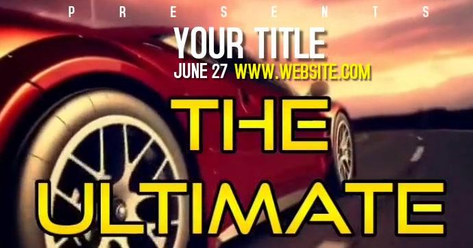 CAR SHOW EVENT AD VIDEO Facebook Gedeelde Prent template