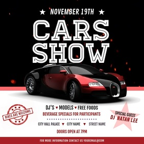 Car Show Event Invitation Instagram Video Square (1:1) template