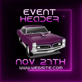 car show event template video ad Logo