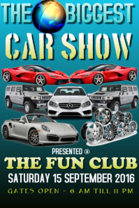 Customizable Design Templates For Car Show Event PosterMyWall - Car show flyer background