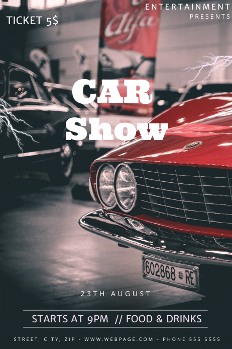 Car Show Flyer Template Postermywall