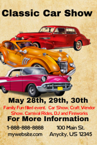 Customizable Design Templates For Hot Rods PosterMyWall - Car and bike show flyer template