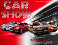Car Show Flyer Template Poster/Wallboard