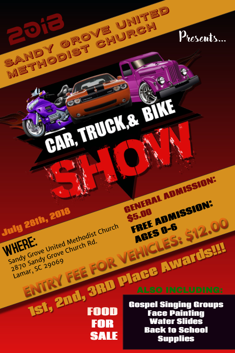 CAR SHOW FLYER TEMPLATE PosterMyWall - Car and bike show flyer template
