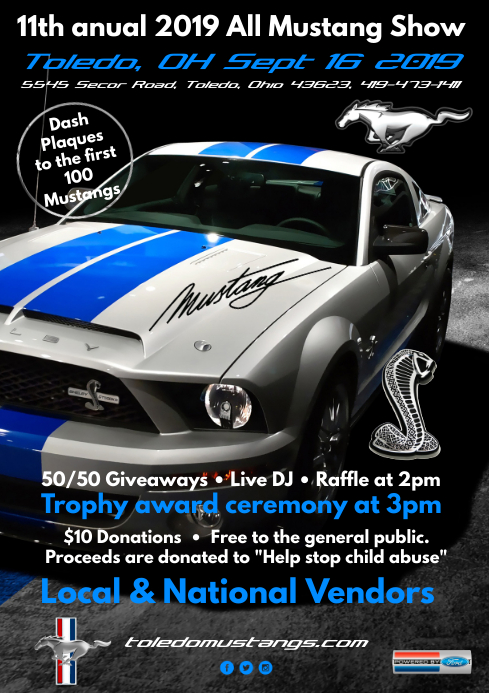 Car Show Poster A4 template