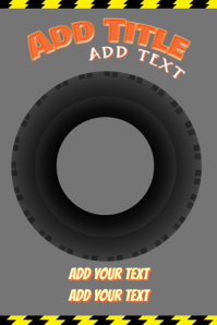 car tire - poster template