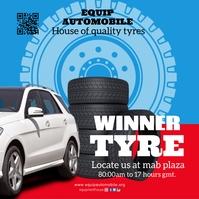 car tyre automobile Album Cover template