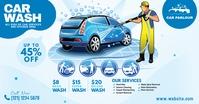 Car Wash Ad Facebook Shared Image template