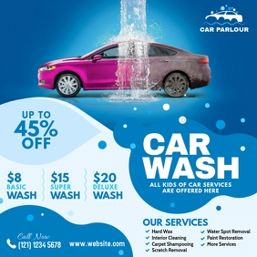 Car Wash Advert Instagram Post template