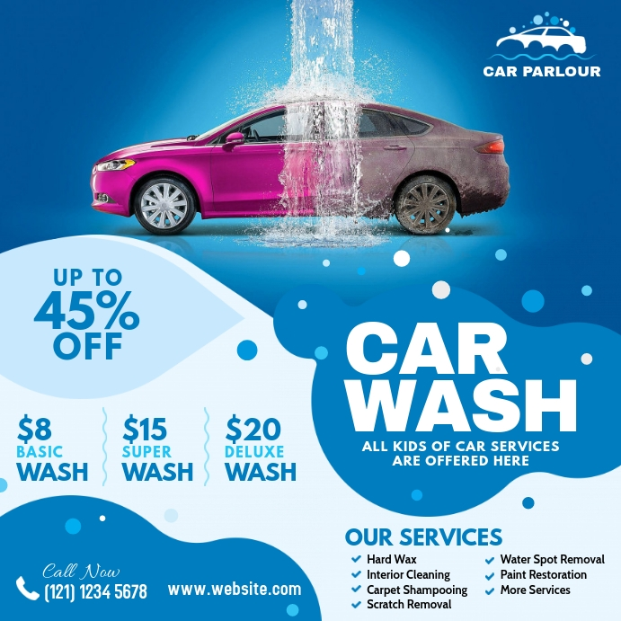 Car Wash Advert Pos Instagram template