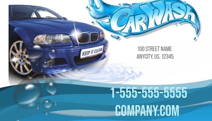 Car Wash Business Card Template | PosterMyWall